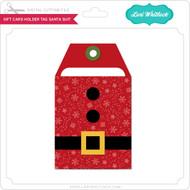 Gift Card Holder Tag Santa Suit