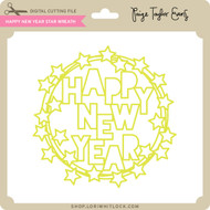 Happy New Year Star Wreath