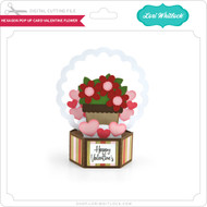 Hexagon Pop Up Card Valentine Flower