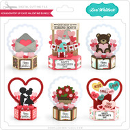 Hexagon Pop Up Card Valentine Bundle