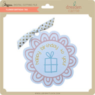 Flower Birthday Tag