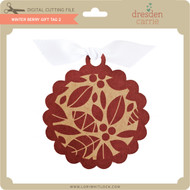 Winter Berry Gift Tag 2