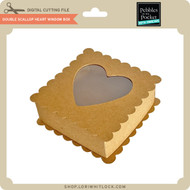 Double Scallop Heart Window Box
