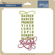 Reindeer List