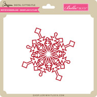 Winter Wonderland - Snowflake Outline