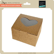 Tabbed Box with Heart Window