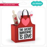 Box Card Love Apron