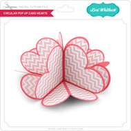 Circular Pop Up Card Hearts