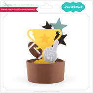 Round Pop Up Card Trophy Football