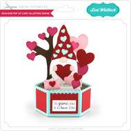 Hexagon Pop Up Card Valentine Gnome