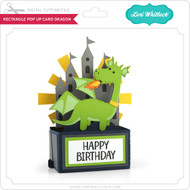 Rectangle Pop Up Card Dragon