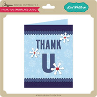 Thank You Snowflake Card 2