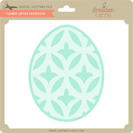 Flower Lattice Easter Egg