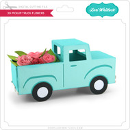 3D Pick Up Truck Flowers