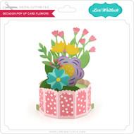 Decagon Pop Up Card Flowers