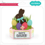 Hexagon Pop Up Card Chocolate Easter Bunny