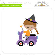 Ghost Town - Witch Scooter