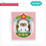 Shadow Box Card Easter Lamb
