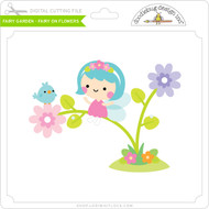 Fairy Garden - Fairy on Flowers