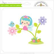 Fairy Garden - Fairy on Flowers