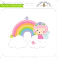 Fairy Garden - Fairy on Rainbow