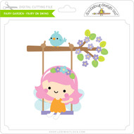 Fairy Garden - Fairy on Swing