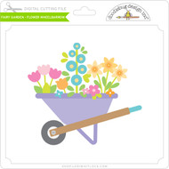Fairy Garden - Flower Wheelbarrow