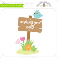 Fairy Garden - Wishing Well Sign