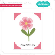 A2 Insert Card Flower Happy Mother's Day