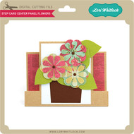 Step Card Center Panel Flowers