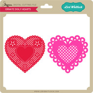 Ornate Doily Hearts
