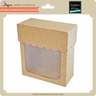 Rectangle Window Box With Scalloped Lid