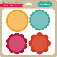 4 Scalloped Circles