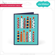 A2 Stacked Card Birthday Candles