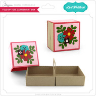 Fold Up Tote Carrier Gift Box