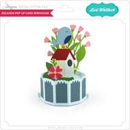 Decagon Pop Up Card Bird House