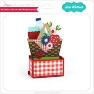 Rectangle Pop Up Card Picnic Basket