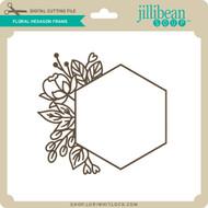 Floral Hexagon Frame