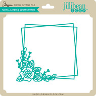 Floral Layered Square Frame