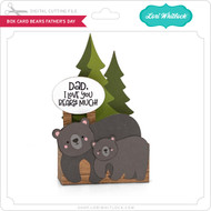 Box Card Bears Father's Day