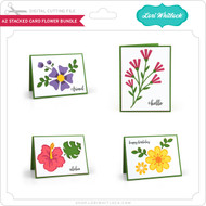 A2 Stacked Card Flower Bundle