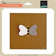 Sticky Note Bee Slit Box