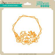 Floral Hexagon Frame 2