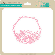 Floral Layered Hexagon Frame