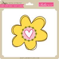 Sunny Happy Skies - Heart Flower
