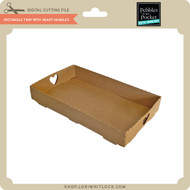 Rectangle Tray With Heart Handles