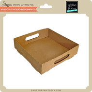 Square Tray With Rounded Handles