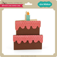 Birthday Cake Shaped Card