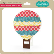 Hot Air Balloon Shaped Card