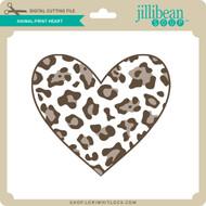Animal Print Heart